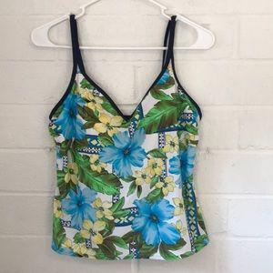 NWOT Tropical Escape Bathing Suit Top!